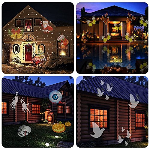 Beisaqi Christmas Projector Lights Outdoor Holiday Light Garden Projector Laser Lights Led Landscape Spotlight for Home Decoration Birthday Party (15 Pattern with Remote Control) by Beisaqi (Image #2)