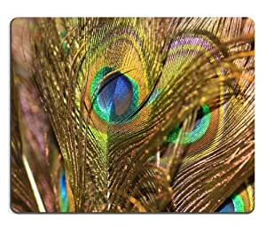 Peafowl Peacock Pavo Feather Bird Mouse Pads Customized Made to Order Support Ready 9 7/8 Inch (250mm) X 7 7/8 Inch (200mm) X 1/16 Inch (2mm) High Quality Eco Friendly Cloth with Neoprene Rubber Luxlady Mouse Pad Desktop Mousepad Laptop Mousepads Comfortable Computer Mouse Mat Cute Gaming Mouse pad