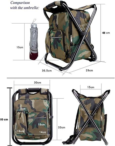 Tentock Sac à dos étanche tout en un sac à dos avec fonction de chaise pliante et sac isotherme pour alpinisme, randonnée, voyage
