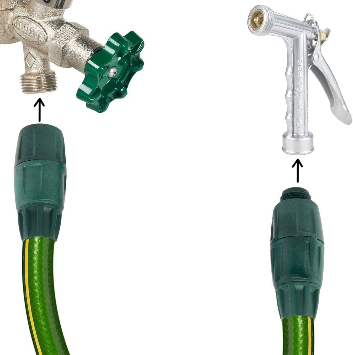 Use in Garden Hose 5//8 inches 1.6 cm Hose Connector Set in 6 pcs Coupling System by Swan Hoselink