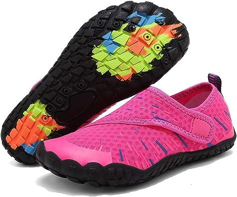 U4JSX001-F.blue-25 Toddler//Little Kid//Big Kid FANTURE Girls /& Boys Water Shoes Lightweight Comfort Sole Easy Walking Athletic Slip on Aqua Sock