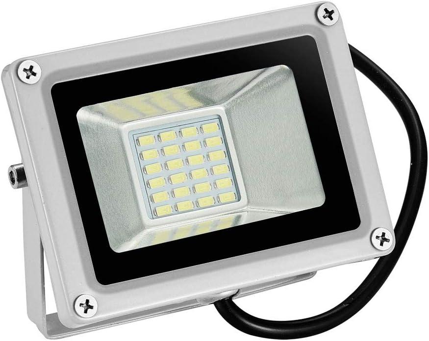 12V Foco LED, 20W 1600LM Blanco Frío 6000K Reflector Foco Proyector LED para Exteriores Floodlight, Súper Brillante luz de Seguridad para Jardín, Garaje, Campo Deportivo