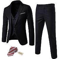 Jacket+Pants Generic Mens Fashion 2 Pieces Set Floral Print Slim Fit Suits