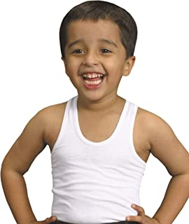 Boys 2 Pack Warm WHITE 100/% Cotton Winter Vest Top Sizes 1-2 3-5 6-7 9-11 11-13 Years 9-11
