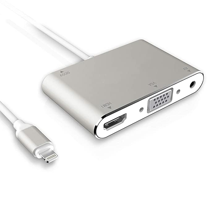 AISIF - Adaptador HDMI VGA para iPhone X 8 7 6 y iPad HDMI ...