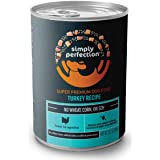 Simply Perfection Super Premium Turkey Recipe Canned Dog Food 79.2Oz Case, 6 Cans