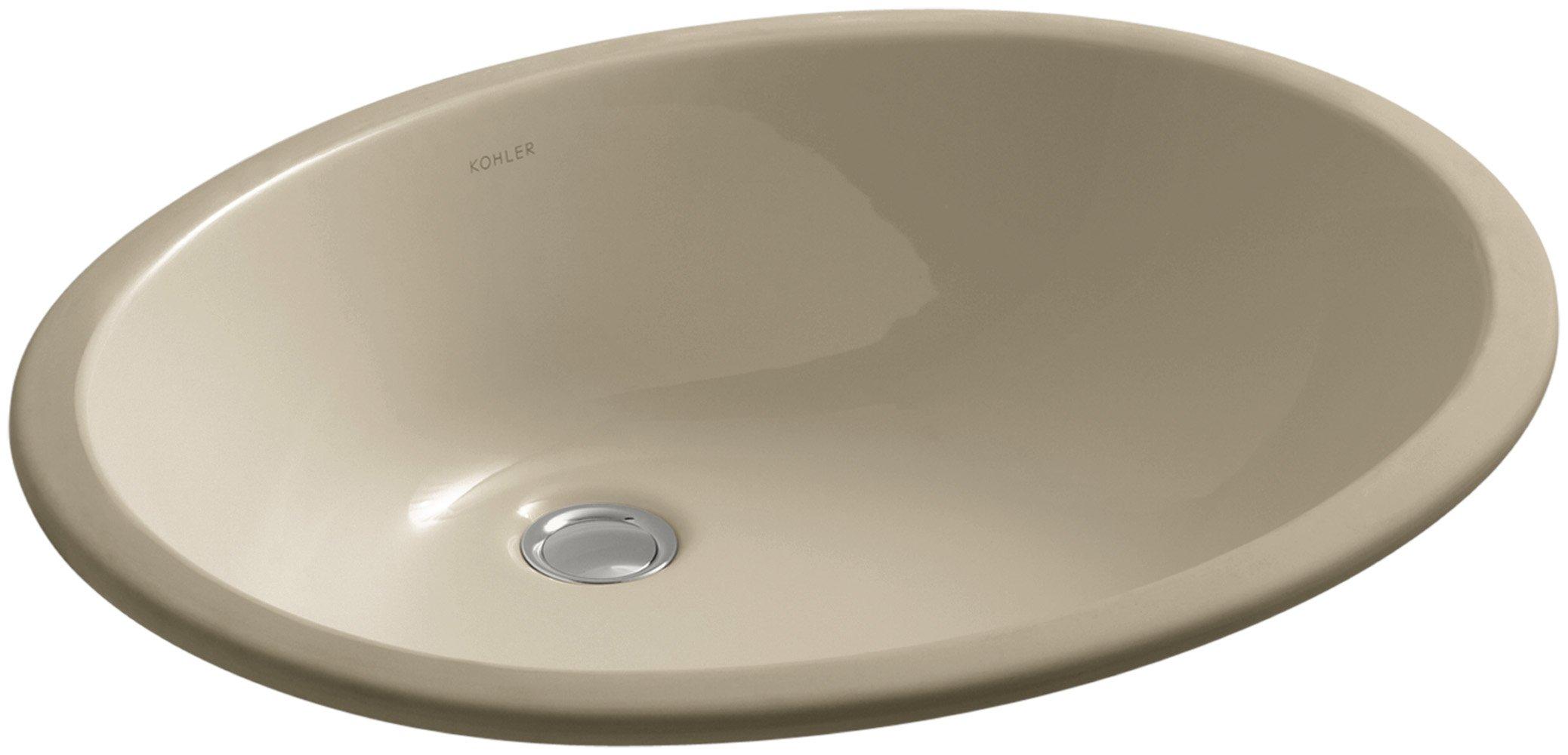 KOHLER K-2211-33 Caxton Undercounter Bathroom Sink, Mexican Sand
