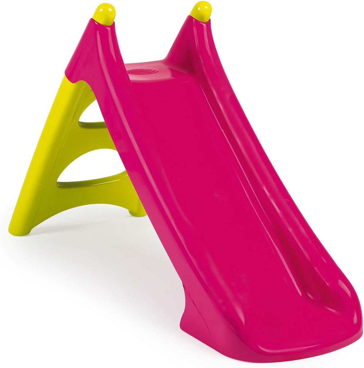 Smoby Smoby-3032163102823 310282-Tobogán pequeño XS Verde (2 años), Color Rosa (310282)