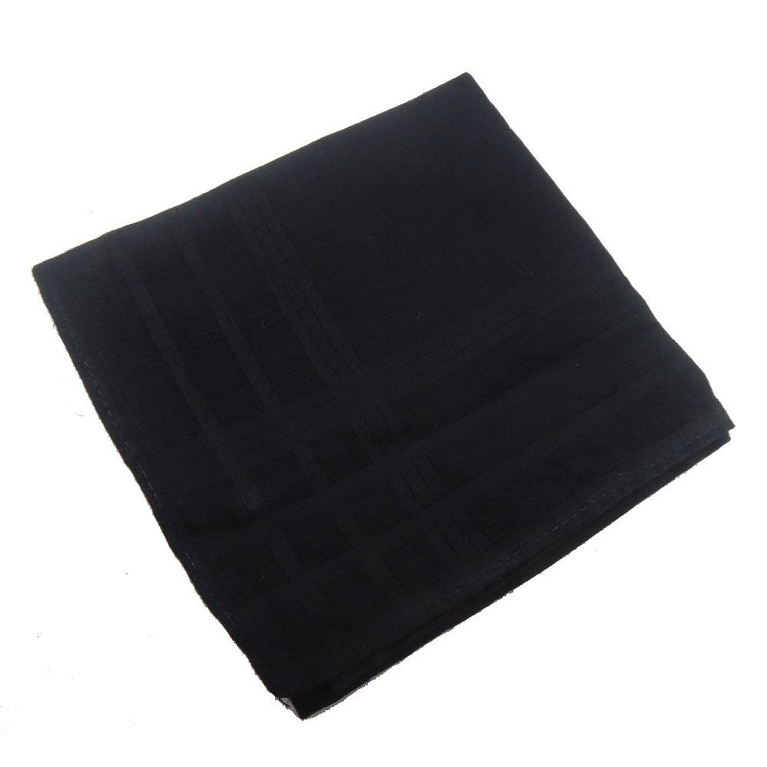 Men's Solid Black Luxury Soft Cotton Handkerchiefs Pack