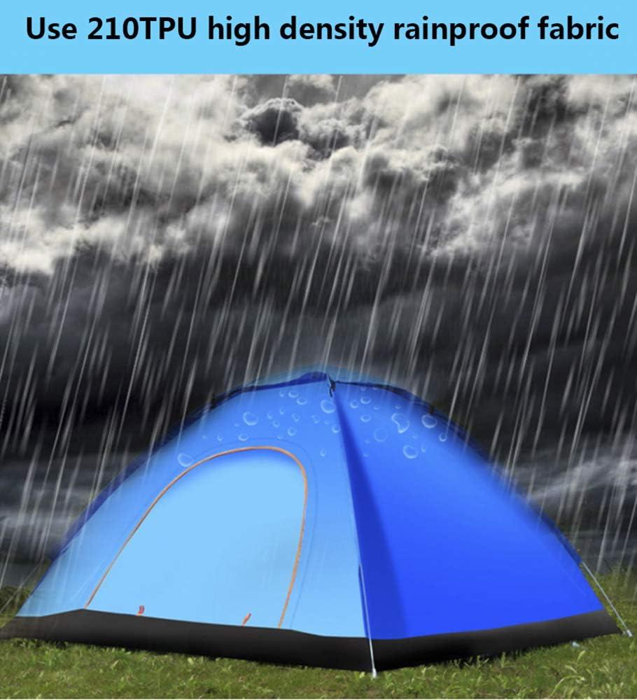 Koepeltent, Campingtent, Familietent voor 2-4 Personen, Waterdicht, Ventilatiesysteem, Ingang Tegen Weersinvloeden, Muggenbescherming, voor Kamperen, Wandelen A/2