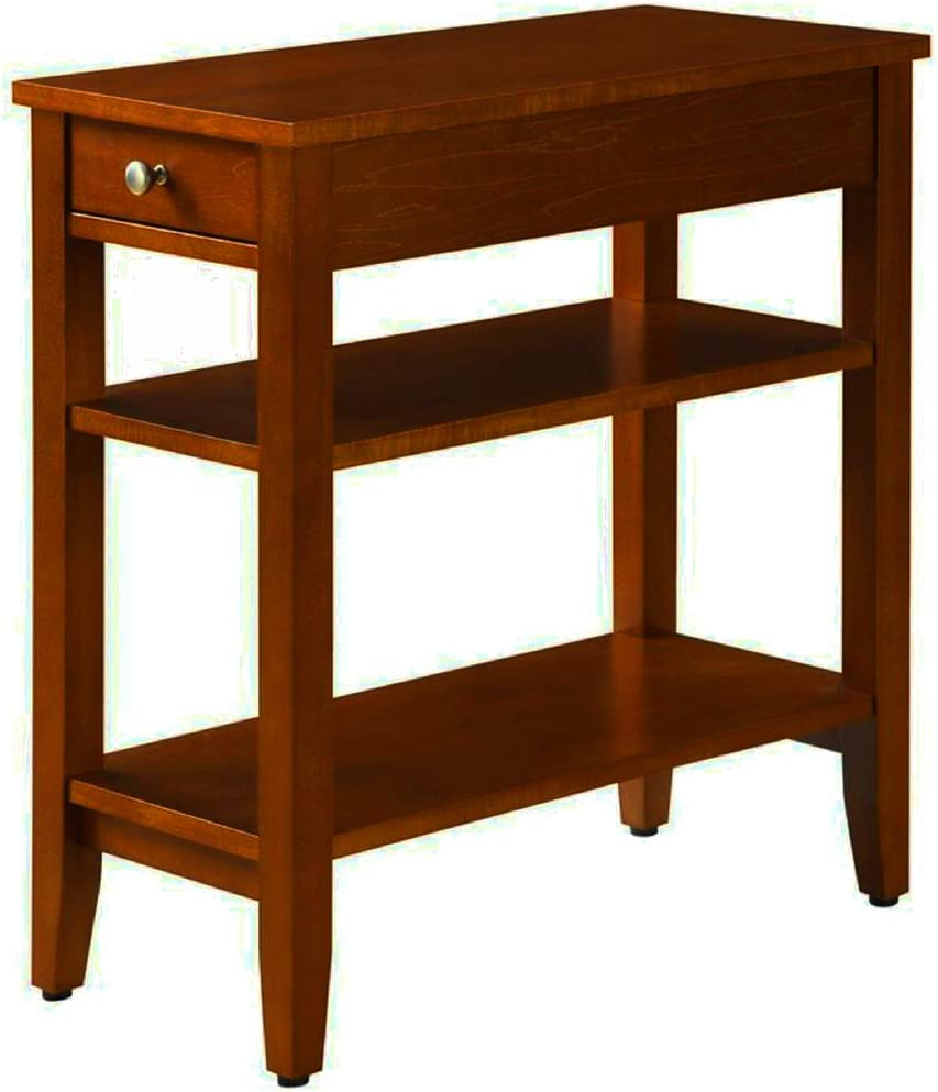 Amazon.com: Narrow End Table for Small Places with Drawer and 2 ...