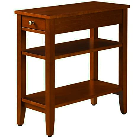 Wondrous Amazon Com Narrow End Table For Small Places With Drawer Ncnpc Chair Design For Home Ncnpcorg