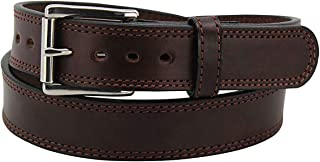 product image for Bullhide Belts Brown Max Thickness Work or Gun Belt - Thick, Rigid CCW Belts for Men - Gun Belts for Concealed Carry Duty Leather - Made in USA - 15 Ounces, 42-Inch