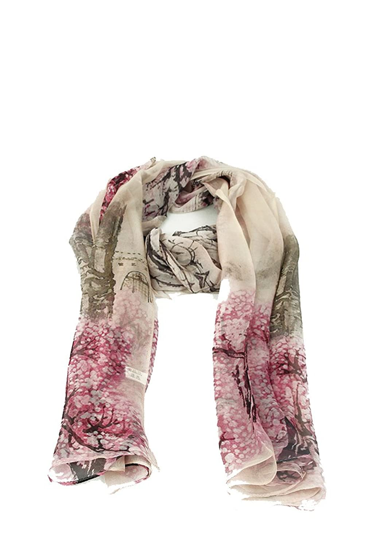 HuanZhou Silk Scarf Pattern Flower 100% Silk