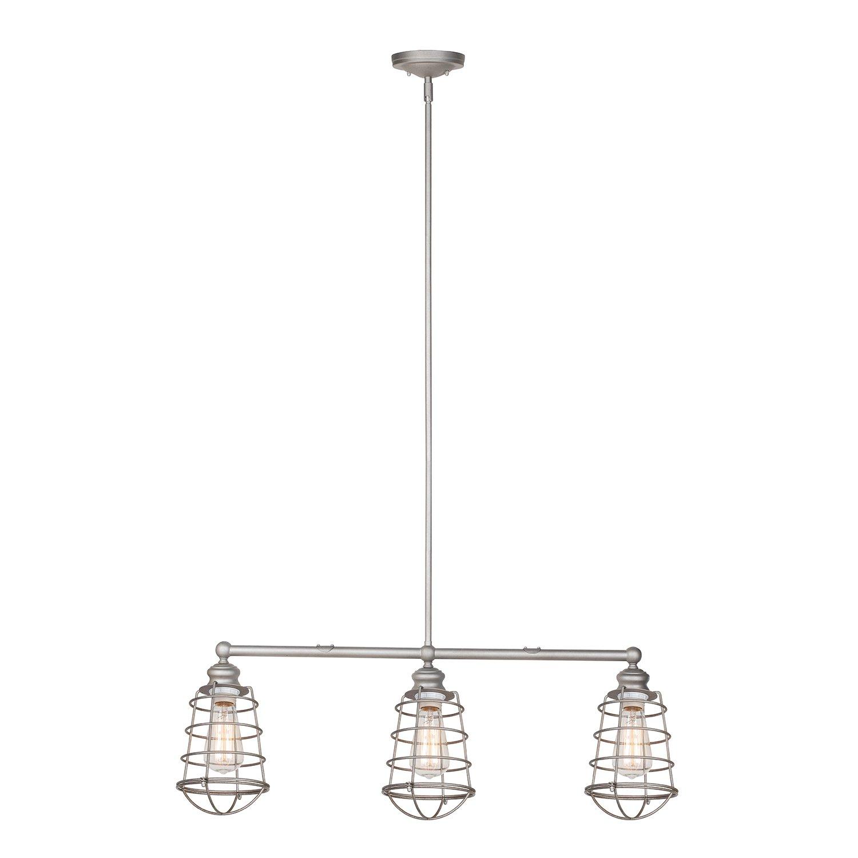 Design House 519744 Ajax 3 Light Pendant, Galvanized Steel Finish