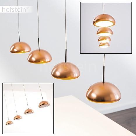 Lámpara de techo colgante LED Silcox Color Cobre - 4x LED 4,6W alta ...