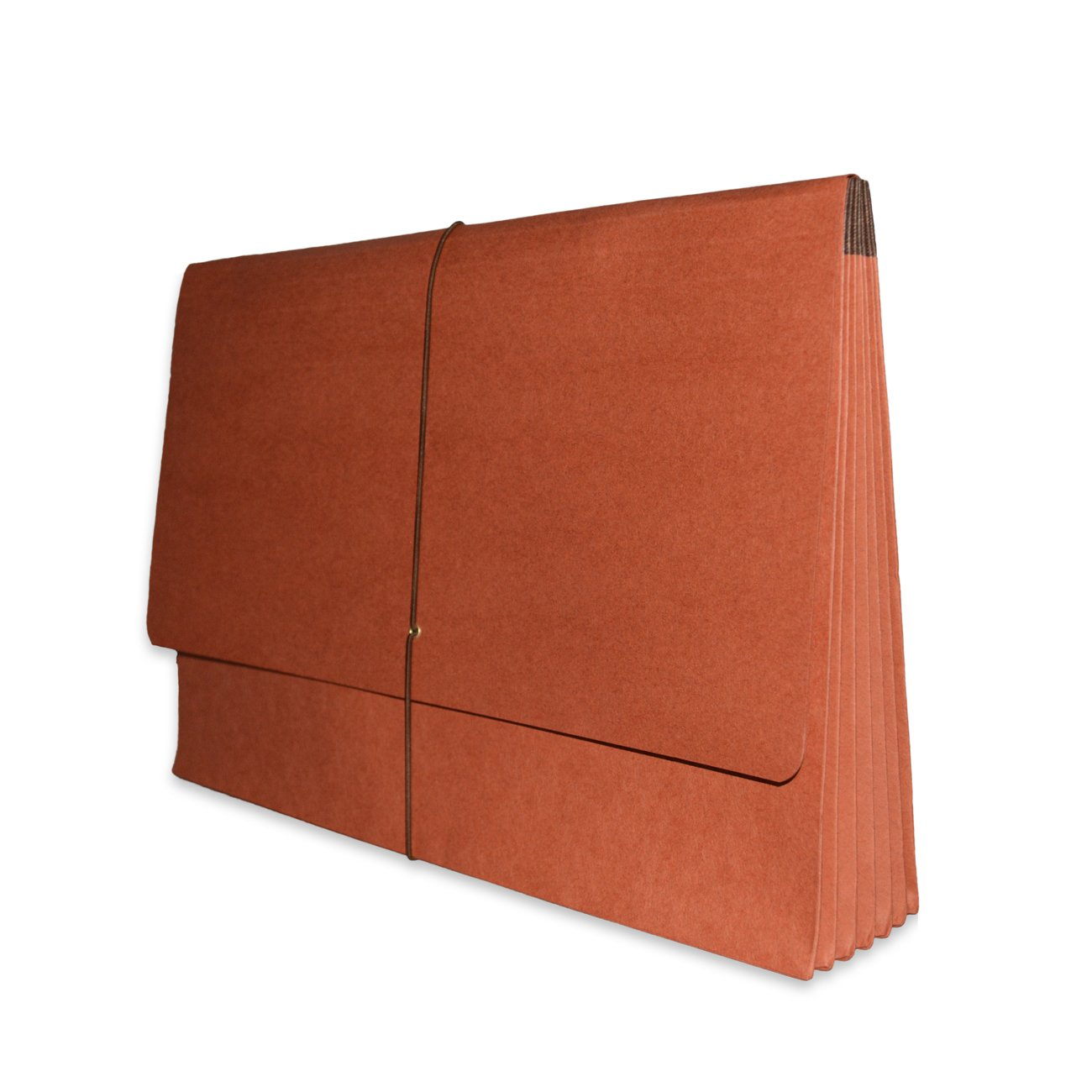 ALL-STATE Expanding Wallet, Legal Size with 5 1/4'' Redrope Expansion, Elastic Tie Closure, 25 per Carton