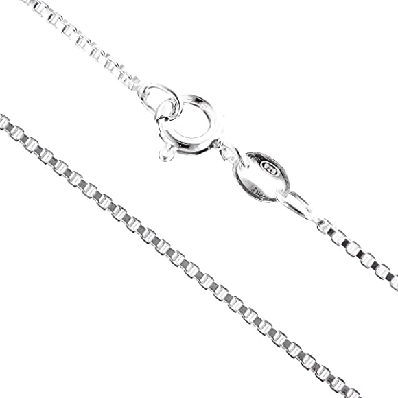 Solid 925 Sterling Silver 1mm Bead Ball Chain Necklace Various Lengths