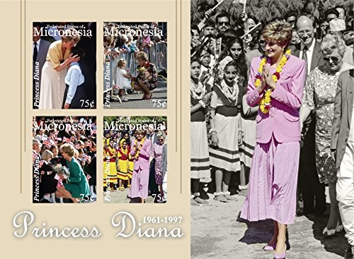 Princess Diana Sheet (Micronesia 2010 Princess Diana 4 Stamp Sheet Scott #894 13Q-105)