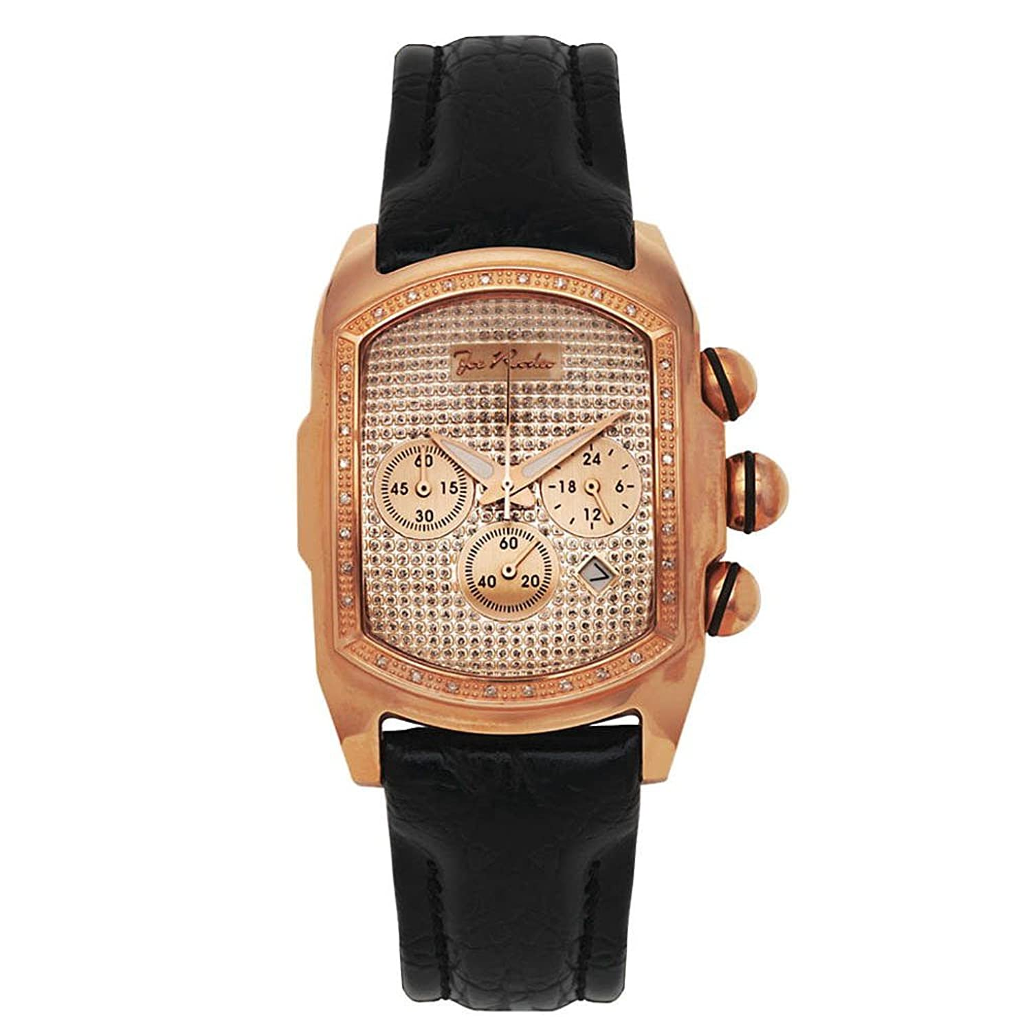 Joe Rodeo Diamant Herren Uhr - KING rose gold 0.36 ctw