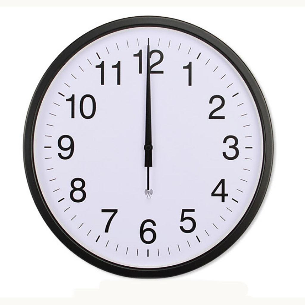 L&M intelligent metal Home living room Radio clock automatic School time Day wave table Simple Hotel Electronic clock , black
