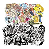 Image of Stickers Pack,Thsinde 160 Pcs Laptop Stickers Kids Stickers Bicycle Luggage Decal Graffiti Patches Random Sticker Pack with Monkey,vigorous sailor,rabbit,monster college,frog,bear