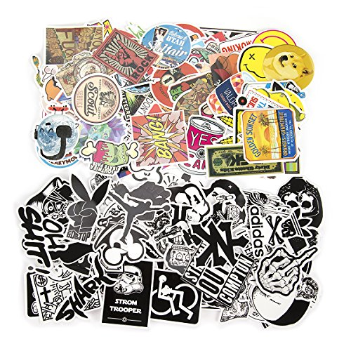Stickers Pack,Thsinde 160 Pcs Laptop Stickers Kids Stickers Bicycle Luggage Decal Graffiti Patches Random Sticker Pack with Monkey,vigorous sailor,rabbit,monster college,frog,bear Image