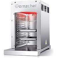AMZCHEF Infrarot Brenner Gas BBQ Gasgrill,XL 800℃ Beefmaker Outdoor Gasgrill, Professioneller Beefmaker, Abnehmbar Leicht Zu Reinigender, 100% Edelstahl-Gas Grill
