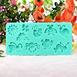 Bluelover Silicone Insects Bee Cake Mold Fondant Sugar Mould
