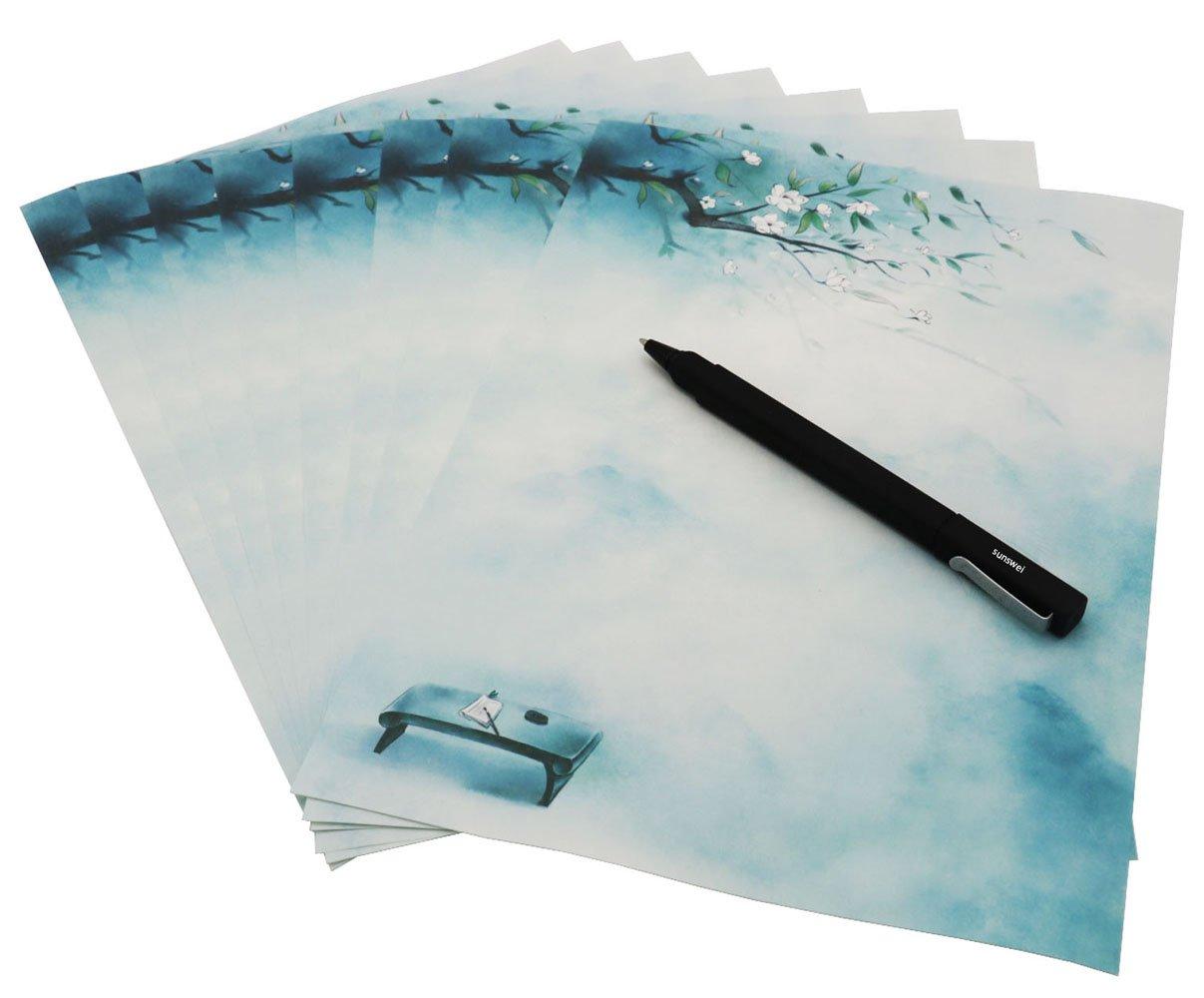 32/pezzi colori assortiti lettera e 16/pz buste Sunswei writing Stationary set carta carta da lettera Letter set