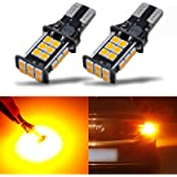 iBrightstar Newest Extremely Bright 3030 Chipsets T15 912 W16W 921 LED Bulbs for Turn Signal Blinker Side Marker Lights…