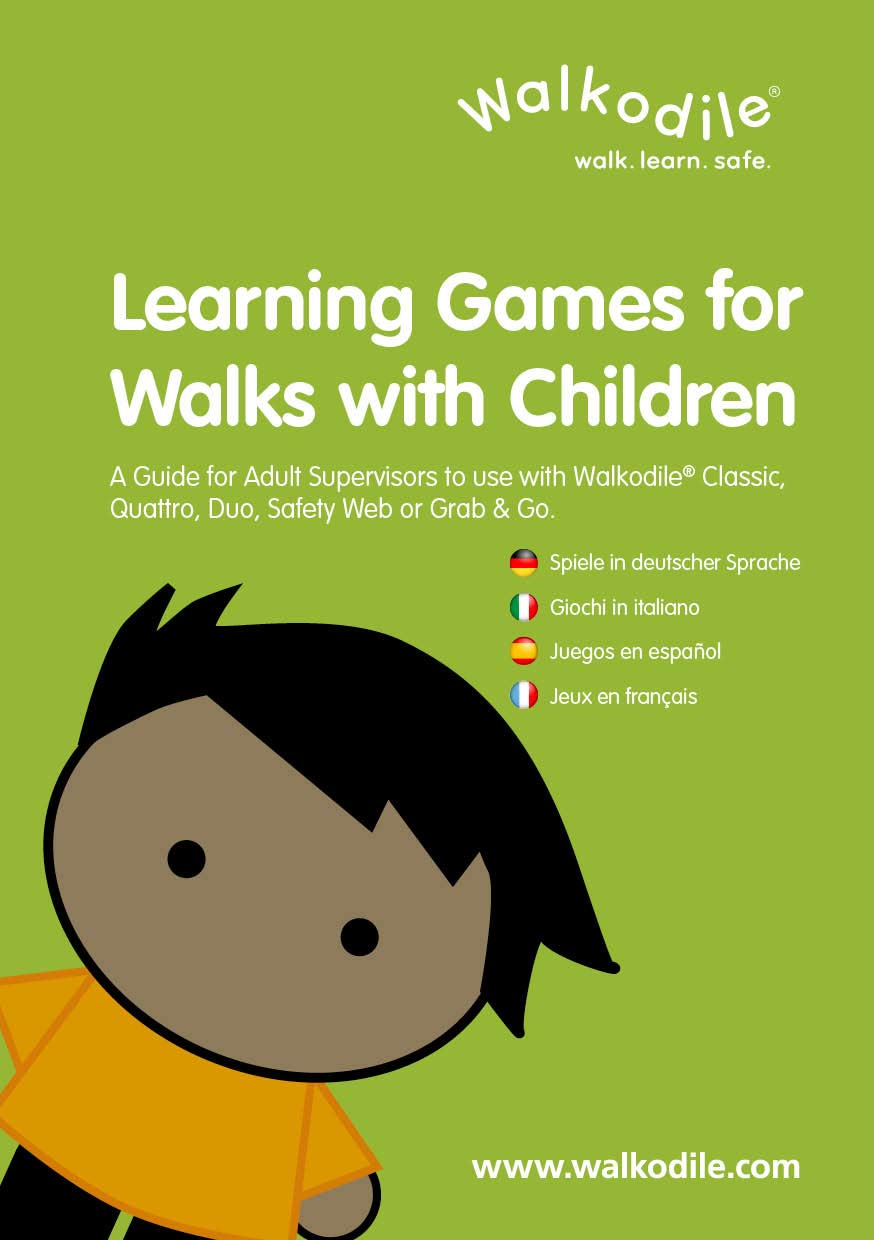 Walkodile Quattro (4 Child) - Kids Walking Rope, Childrens Reins, Toddler Safety Harness. Includes Free Learning Games for Walks Guide by Walkodile (Image #7)