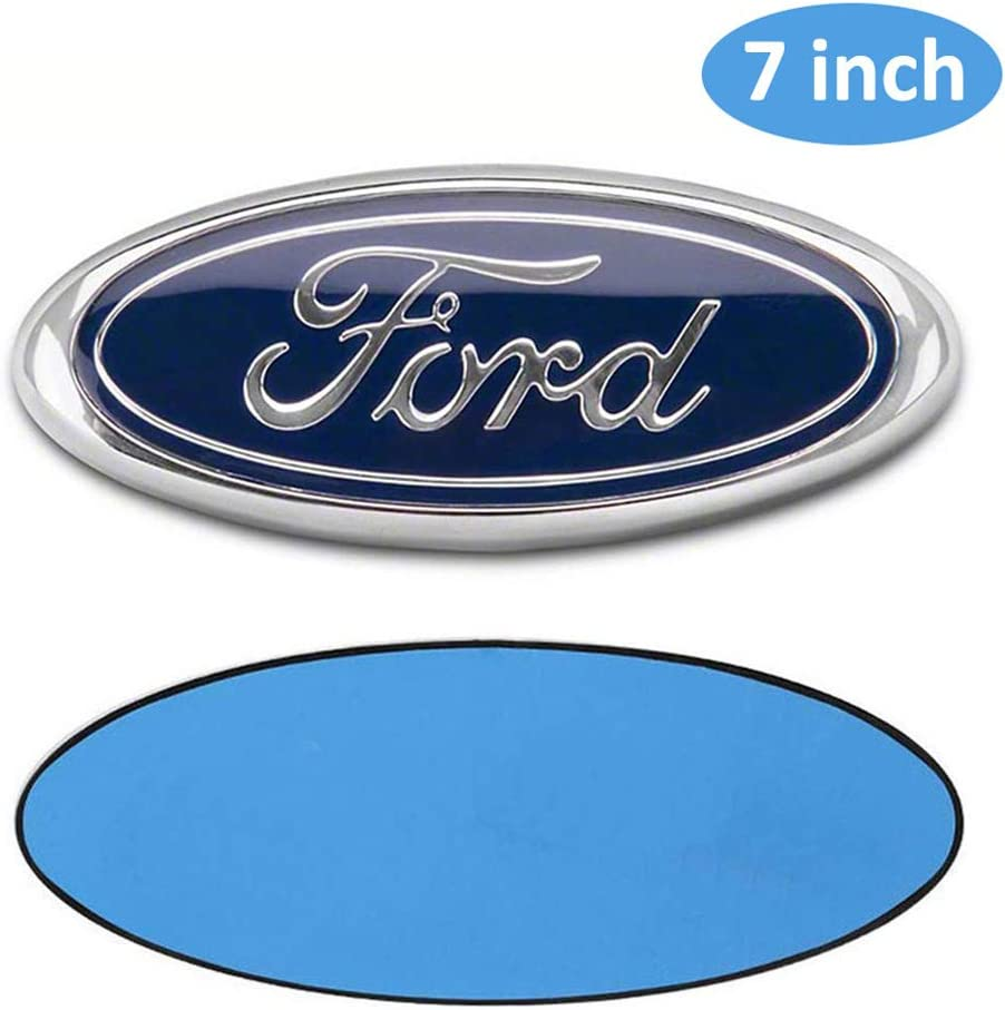 7 Inch Ford Emblem For Ford Front Grille Tailgate Emblem 3D Oval 3M Double Side Adhesive Tape Sticker Badge for Ford Escape Excursion Expedition Freestyle F150 F250 F350