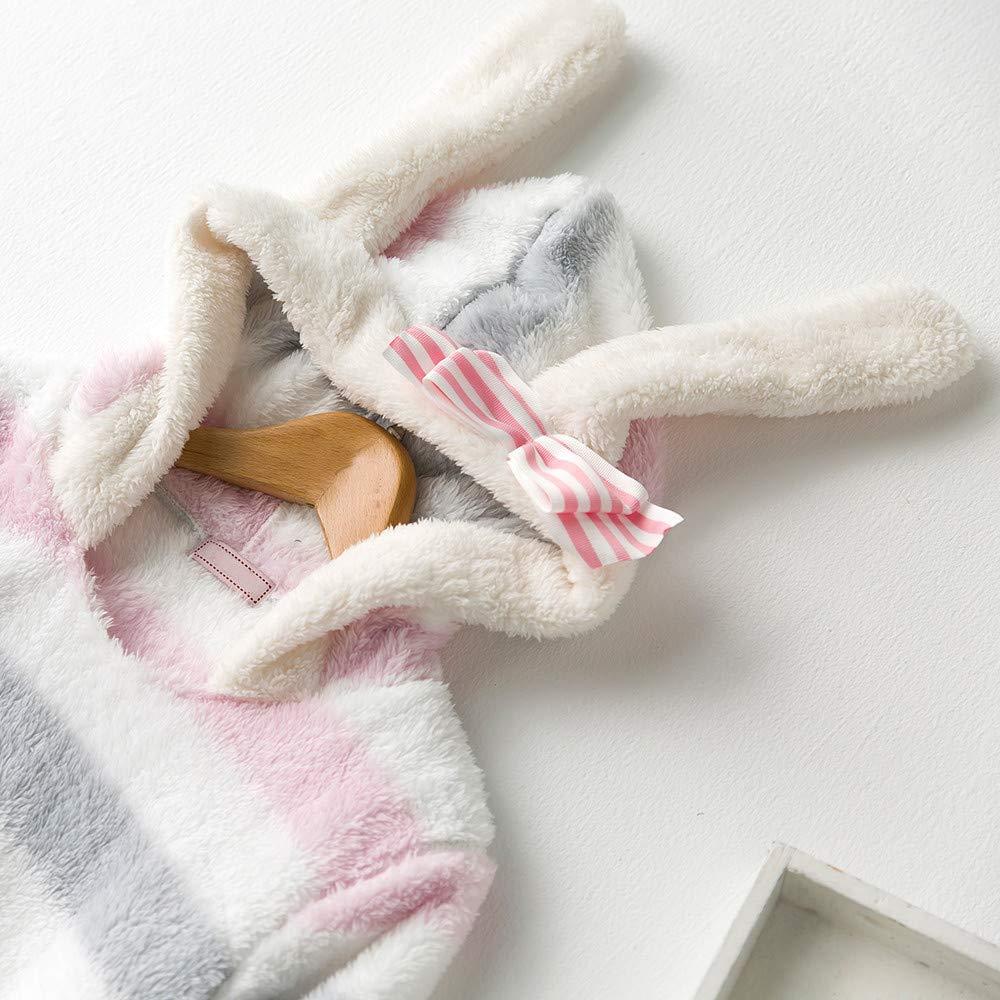 Millenniums Peignoir Eponge /à Capuche Pyjama Polaire Confortable Animal Lapin Manteau de Bain Mignon Robe de Chambre Cosplay Costume