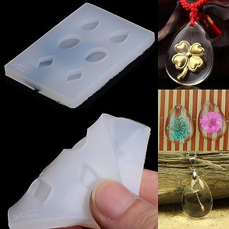 amrka claro pendientes de silicona DIY molde para resina epoxi joyería hacer manualidades herramienta de mano