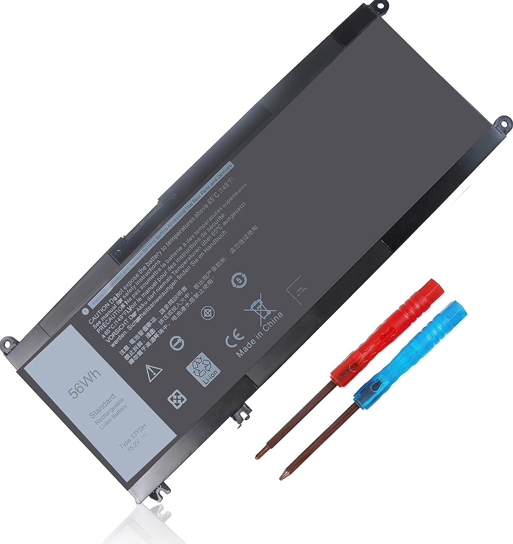 56WH 33YDH 15.2V Battery for Dell Inspiron 17 7000 7773 7778 7779 7786 15 7577 G5 5587 G3 3579 3779 G7 7588 Latitude 13 3380 15 3580 3590 14 3490 Vostro 7580 7570 PVHT1 99NF2 81PF3 P72F P30E P30E001