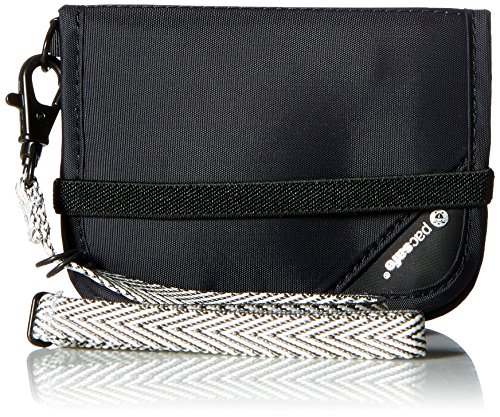 Pacsafe RFIDsafe V50 Anti-Theft RFID Blocking Compact Wallet, Black