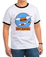 CafePress - Bob's Burgers Flying Burgers Ringer T - Ringer T-Shirt, 100% Cotton Ringed T-Shirt, Vintage Shirt