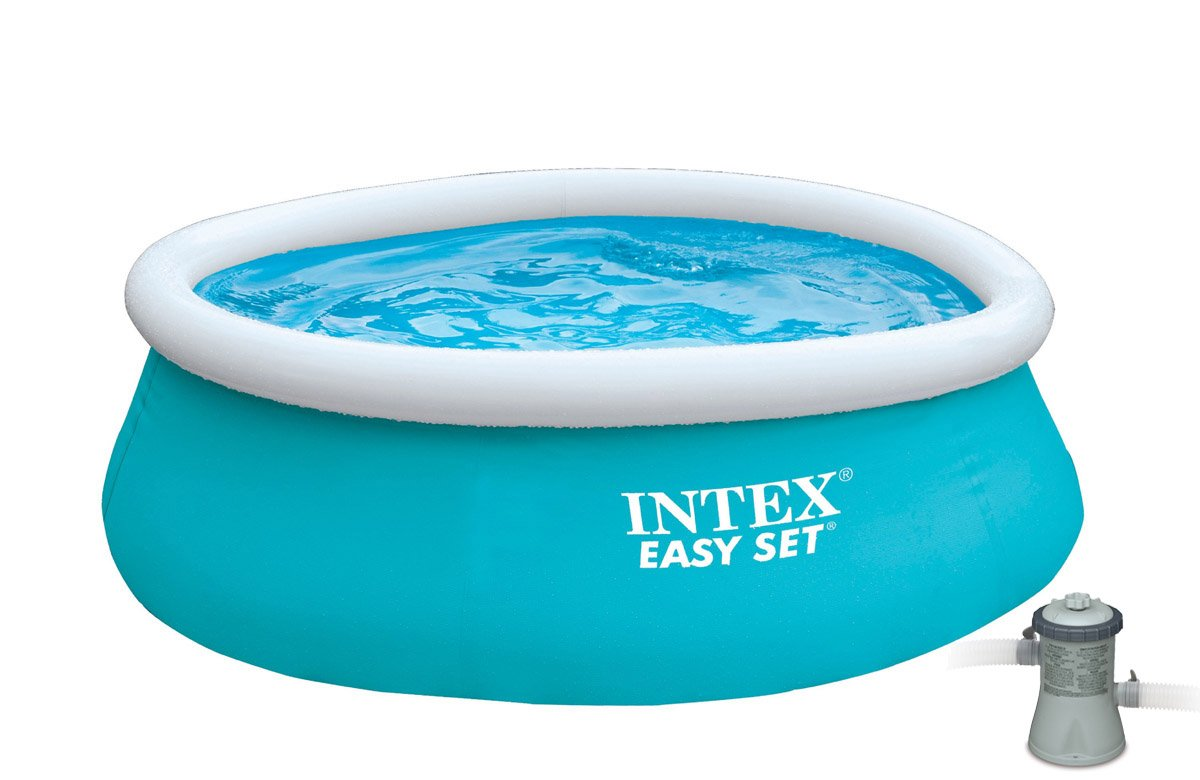 Intex 6' x 20'' Easy Set Inflatable Swimming Pool with 330 GHP Filter Pump