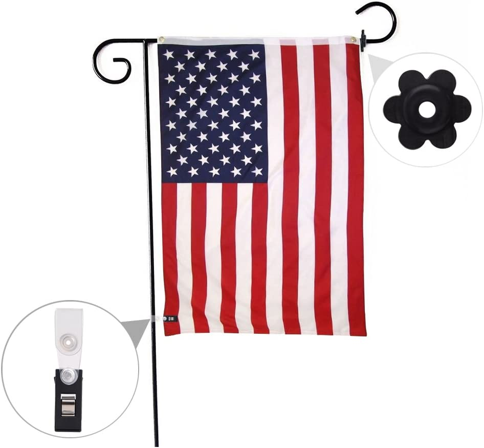 10pcs Garden Flag Pole Stand Stoppers Rubber Stops Adjustable Anti-wind Clips