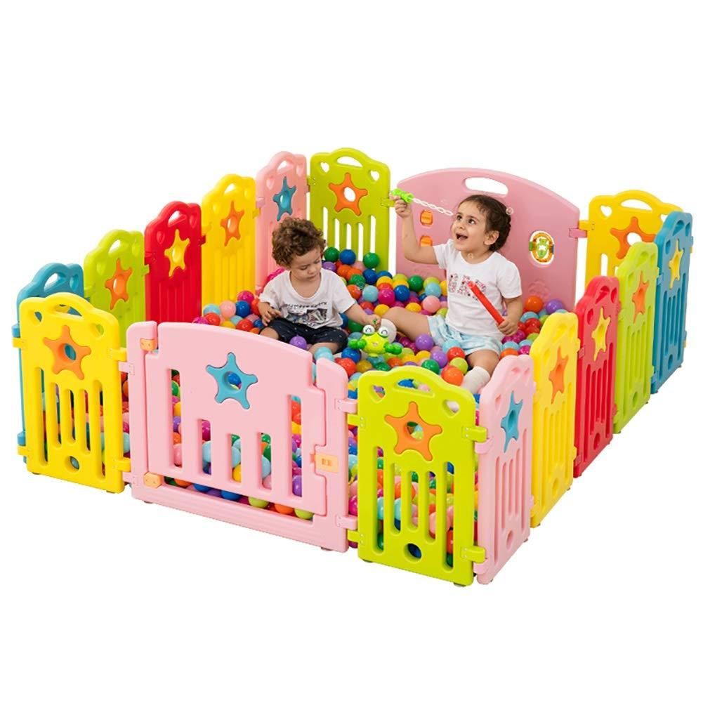 赤ちゃんの囲い 大きな赤ちゃんのフェンス有機緑の材料強いノンスリップ屋内家庭の飛散防止ガードレール、高さ60センチメートル   B07JNX1383