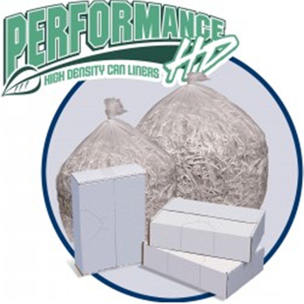 Pitt Plastics PHD40XHC Performance High Density Can Liners, Natural Color, 40'' By 46'' Size, 40'' to 44'' Gallons Capacity, 15 Micron Gauge, 70 Lbs. Maximum Load, Case of 250 Units