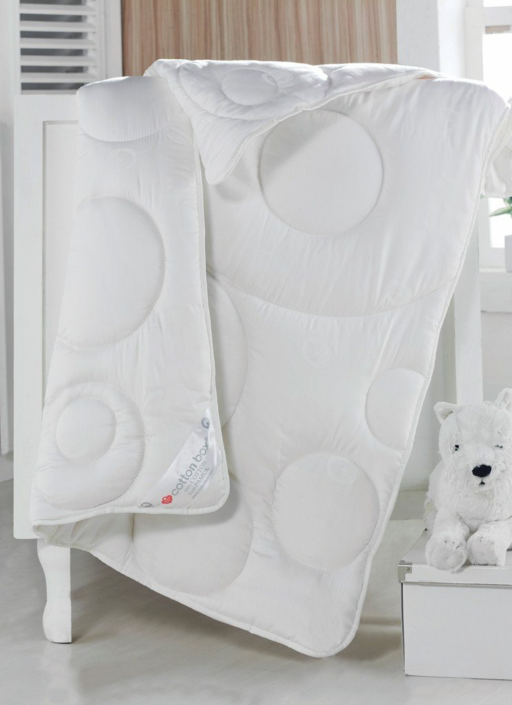 100% Cotton Filled Baby Comforter for Crib Toddler Bed, Encased in 100% Sateen Cotton, White 61B82Bq621GL._SL1024_