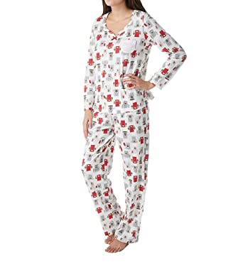 Carole Hochman Women s Jersey Novelty Print Pajama at Amazon Women s ... b4e5a4509