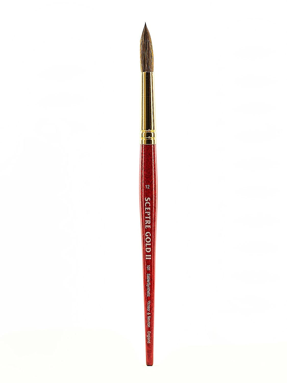 Winsor and Newton Sceptre Gold II Brush Round-Short Handle 12