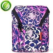 Baby Bottle Cooler Bottle Cooler Bag, Insulated Cooler Tote Keep Breast Milk Cold or Warm (Rose)