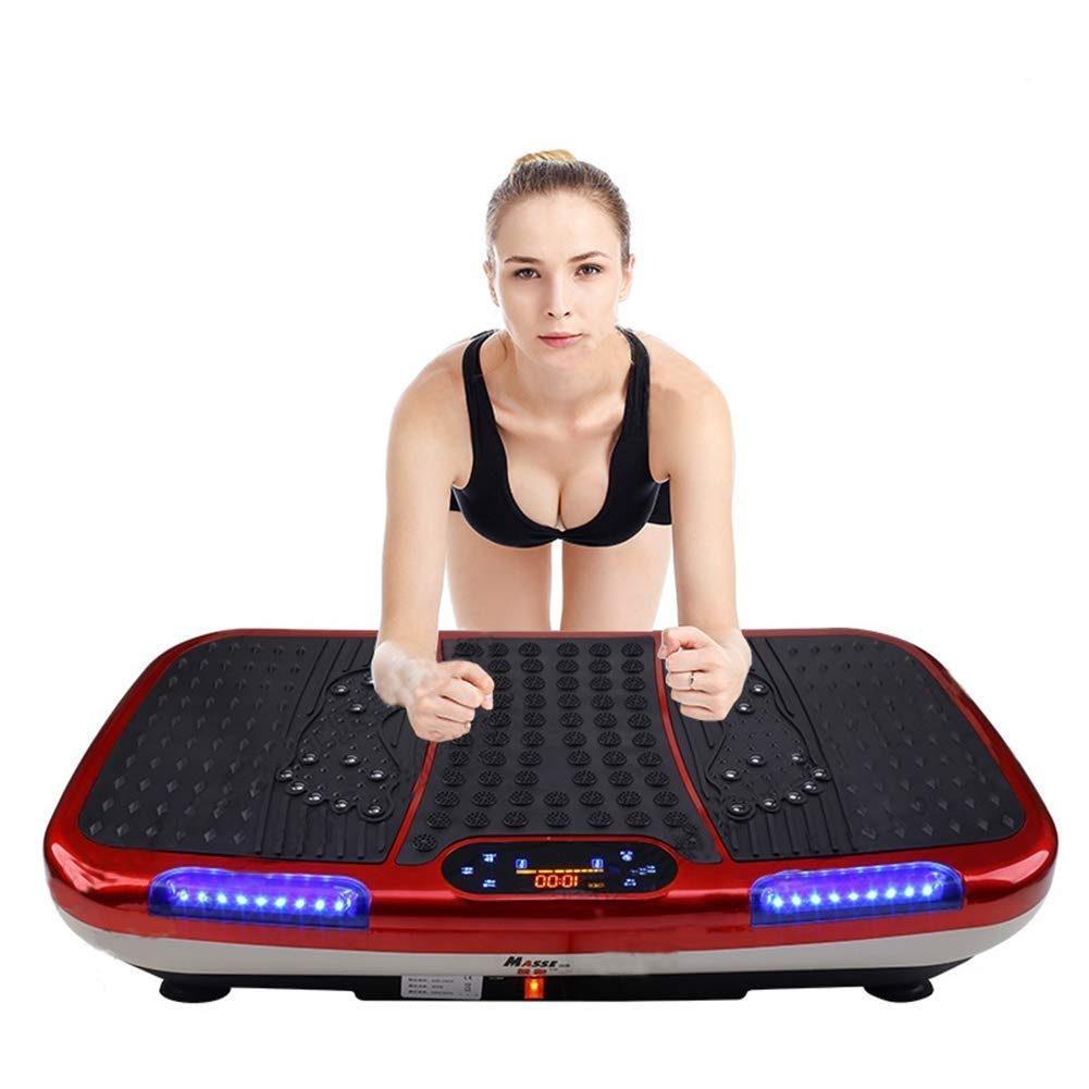 YFFSS Exercise Equipment Fitness Vibration Platform Workout Machine Exercise Equipment for Home Vibration Plate Balance Your Weight Workout with Bluetooth Music Speaker at Home Gym by YFFSS