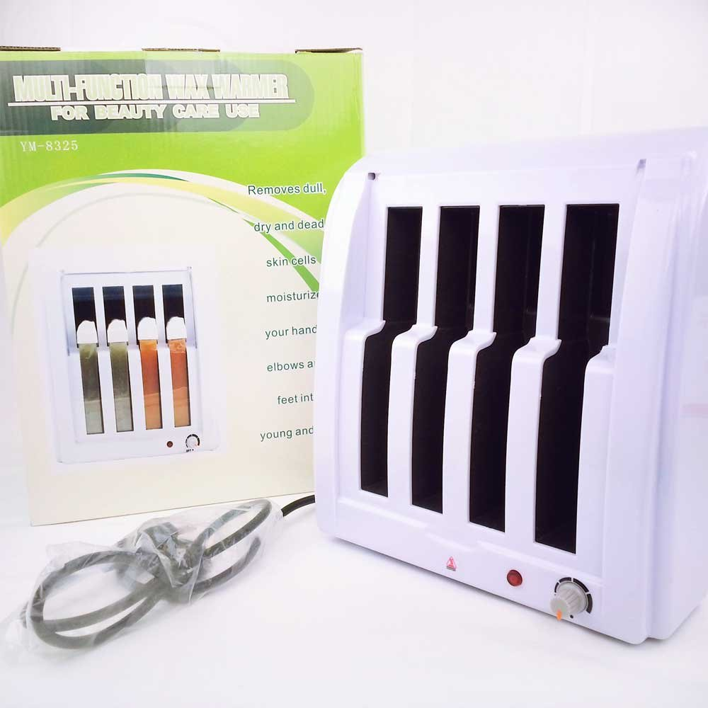 Huini Roll on Electric Wax Heater Depilatory Wax 4 Cartridge Heater Warmer Hair Removal Waxing Epilate