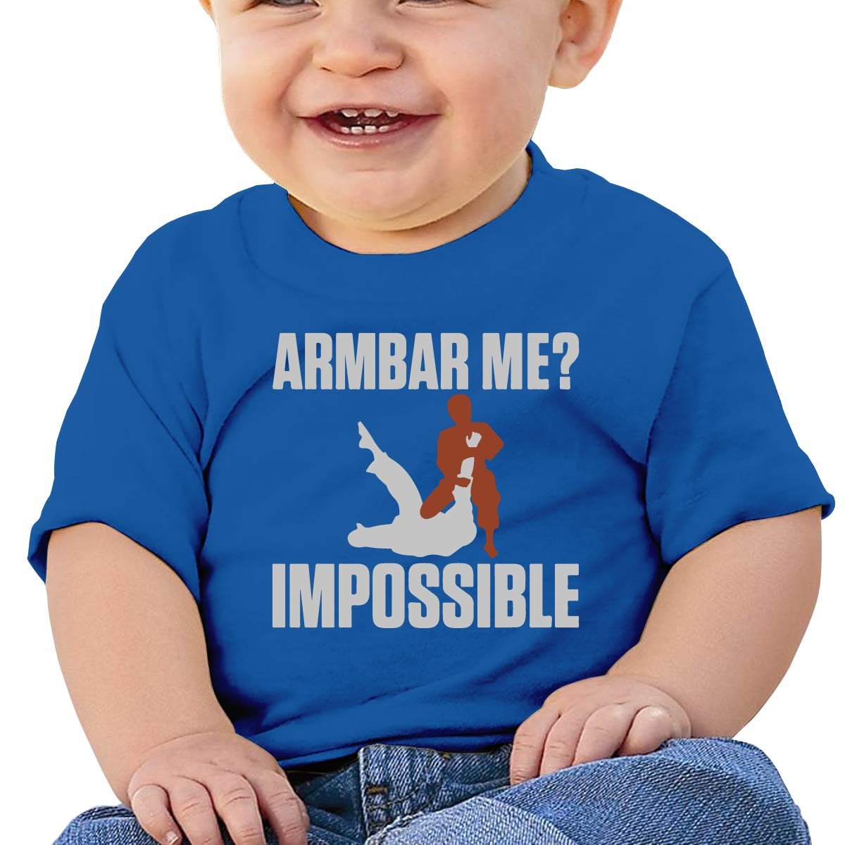 XHX403 Armbar Me Impossible Infant Kids T Shirt Cotton Tee Toddler Baby 6-18M