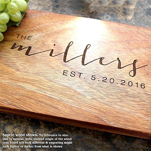 Board, Custom Keepsake, Engraved Serving Cheese Plate, Wedding, Anniversary, Engagement, Housewarming, Birthday, Corporate, Closing Gift #025 ()